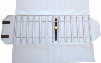 Rouleau pour montres, 12 case (240x46 mm) + élastiques