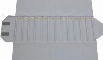 Marmote pour bracelets, 12 cases (220x46 mm) + fermoirs