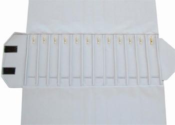 Rouleau 12 cases (280x46 mm)+12 mousquetons+élastiques.