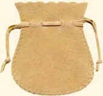 Sachet en coton flocké (65x75 mm)