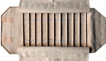 Rolle für Armbänder, 10 Fächer + Gummibänder (220x30 mm)